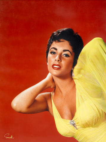 An Elizabeth Taylor large format color portrait by Wallace Seawell