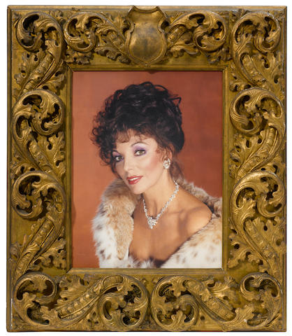 A Joan Collins large format color portrait by Wallace Seawell