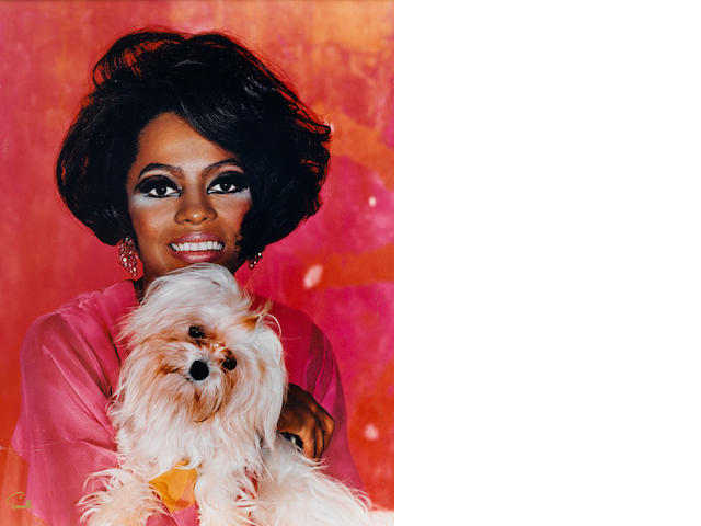A Diana Ross large format color portrait by Wallace Seawell