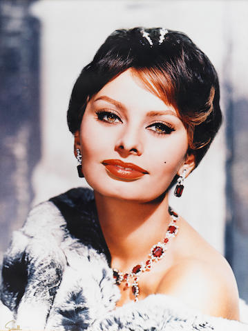 A pair of Sophia Loren large format color portraits by Wallace Seawell