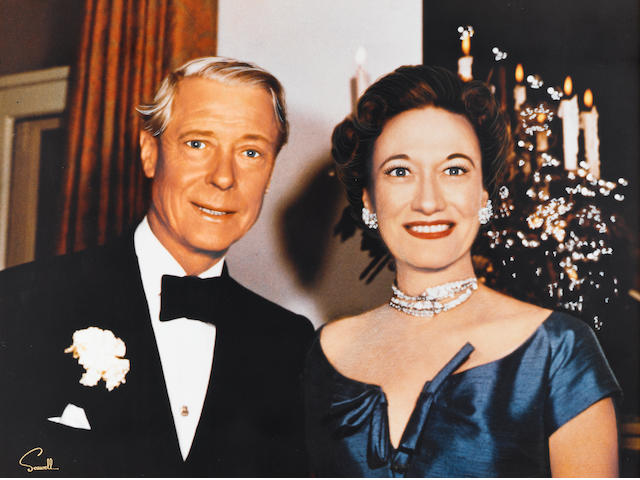A Duke and Duchess of Windsor large format color portrait by Wallace Seawell