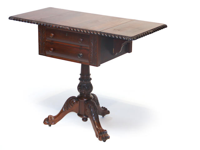 An American Federal Revival mahogany work table late 19th century