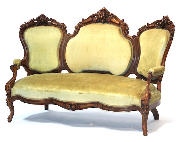 An American Rococo Revival rosewood sofa  circa 1860