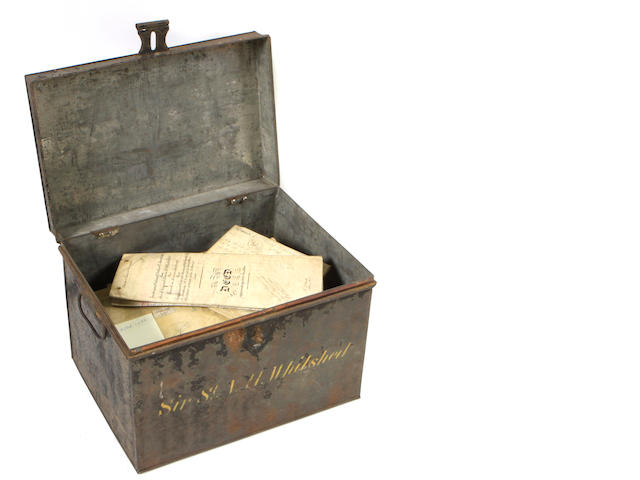 **ON INSPECTION** A group of 30 antique documents in metal case