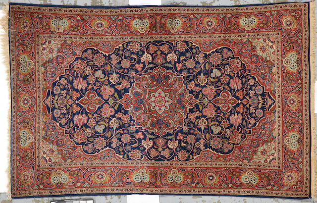 A Kashan rug Central Persia size approximately 4ft. 2in. x 6ft. 8in.