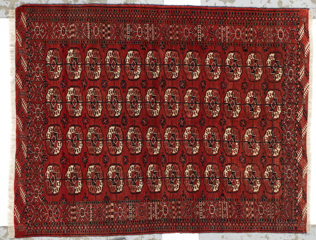 A Turkoman rug Turkestan, size approximately 4ft. 5in. x 5ft. 8in.