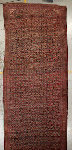 A Beshir carpet Turkestan size approximately 8ft. 2in. x 20ft. 10in.