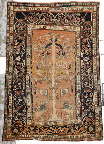 A Tabriz rug late 19th century size approximately 4ft. 1in. x 5ft. 10in.