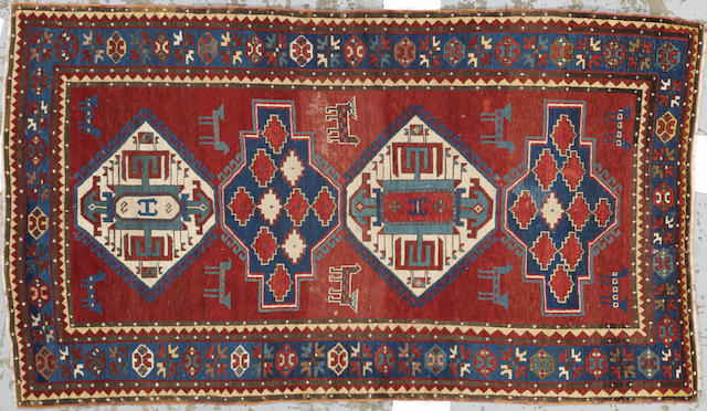 A Kazak rug Caucasus size approximately 4ft. 10in. x 8ft. 6in.