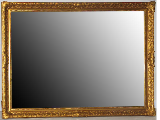A giltwood and composition rectangular mirror late 19th/early 20th century
