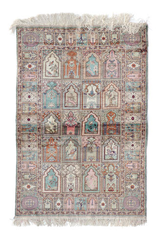 A Turkish rug size approximately 4ft. 8in. x 3ft. 7in.