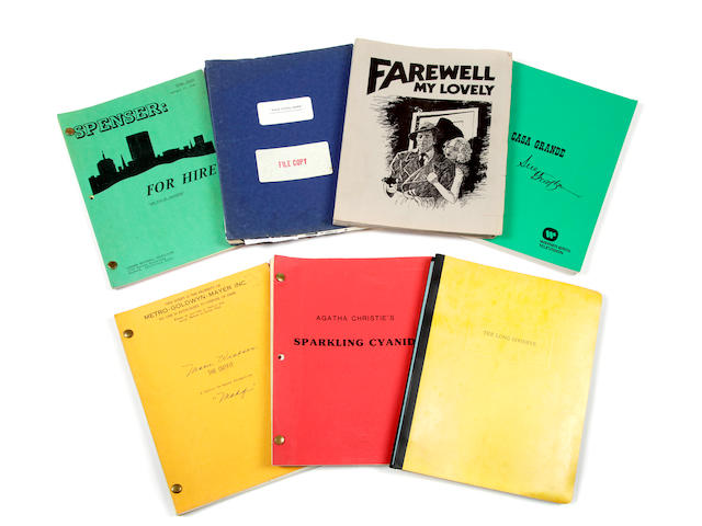 A group of film noir scripts