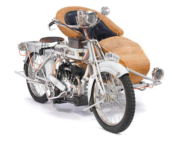 c.1914 Clyno 5/6hp Motorcycle Combination Engine no. 4809