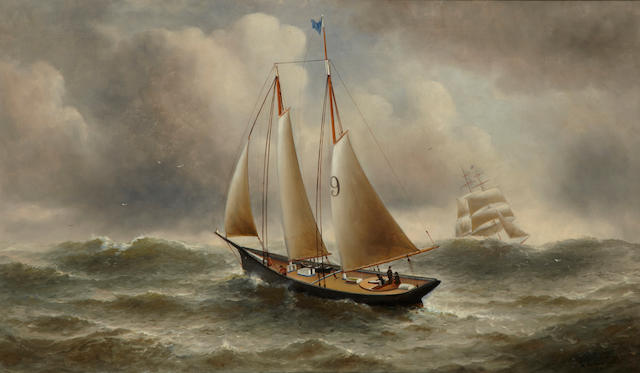 William Alexander Coulter (1849-1936) Ship No. 9 26 x 44in