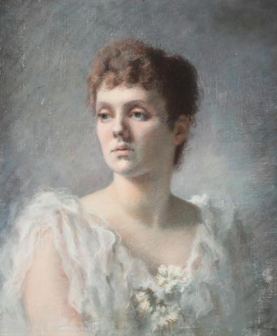 Circle of John Singer Sargent, RA (American, 1856-1925) Portrait of a Woman, purportedly Isabella Stuart Gardner