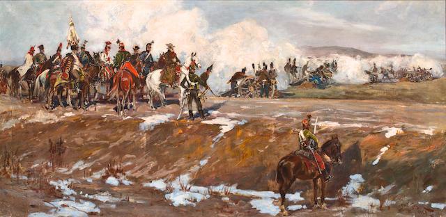 Pair of paintings by Jan Styka