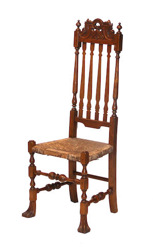 A Queen Anne Style maple side chair<BR /> after the John Gaines Family, New Hampshire  late 19th/early 20th century