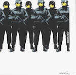 Banksy (b. 1975) Have a Nice Day 2004  signed, titled and numbered 7/500  screenprint on paper  13 by 39 in. 33 by 99 cm.  This work was executed in 2004.