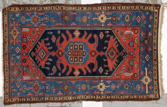 A Hamadan rug  size approximately 4ft. 6in. x 7ft. 2in.