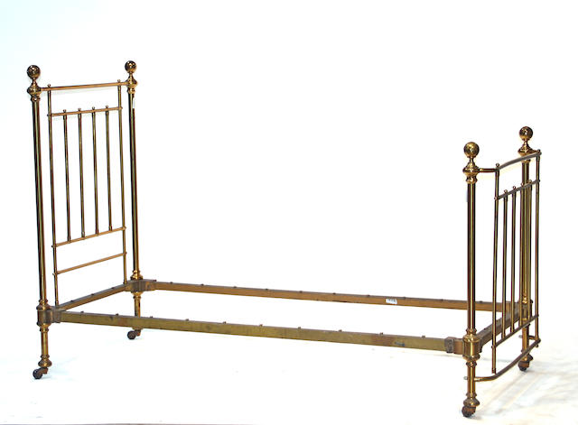 An American Victorian brass bed  late 19th century