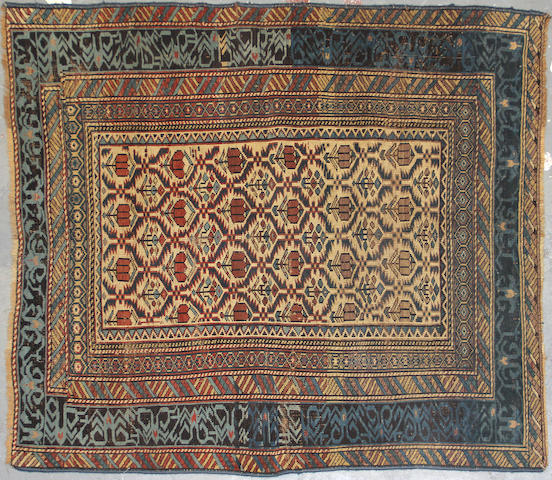 A Shirvan rug  size approximately 3ft. 9in. x 4ft. 6in.