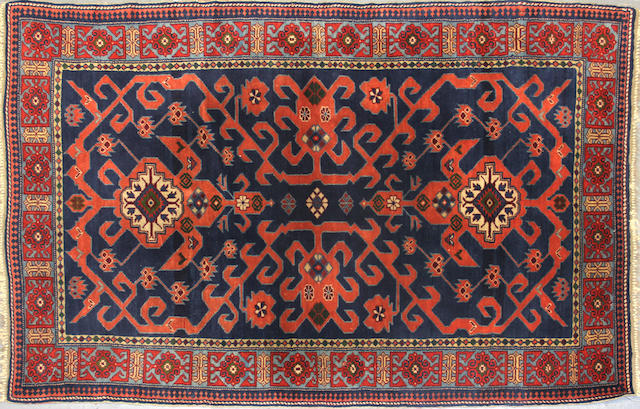 A Caucasian rug size approximately 3ft. 8in. x 5ft. 6in.