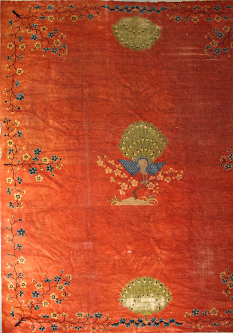 A Chinese carpet size approximately 10ft. 9in. x 13ft. 4in.