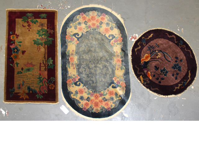 A group of three Chinese rugs
