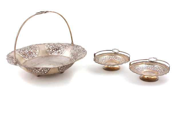 A Chinese Export silver pierced basket Lianchang, Shanghai,  early 20th century