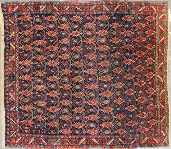 An Afshar rug  size approximately 3ft. 10in. x 4ft. 5in.