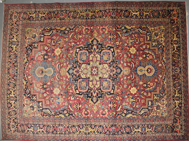 A Khorasan carpet size approximately 9ft. 6in. x 13ft. 3in.