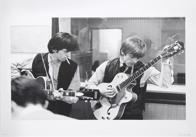 A Gus Coral limited edition photograph of Keith Richards and Brian Jones