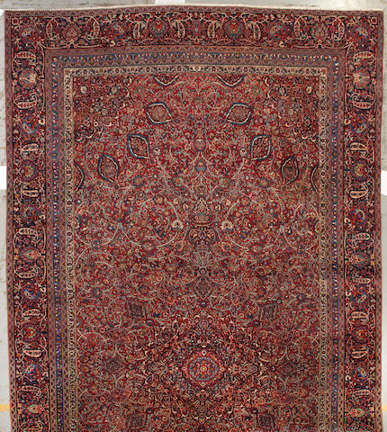 A Meshed carpet Northeast Persia size approximately 11ft. 7in. x 21ft. 1in.