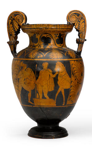 A Grand Tour red-figure volute krater<BR />19th century