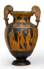 A Grand Tour red figure volute krater 19th century