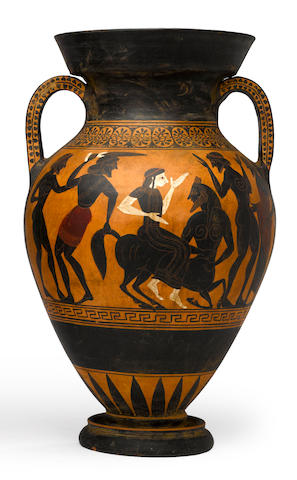 A Grand Tour black-figure amphora<BR />19th century