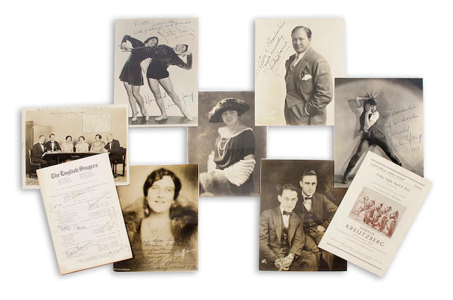 BERKELEY MUSICAL ASSOCIATION. A large collection of signed material relating to the Berkeley Musical Association, 1920-1934, most signatures on the group's printed programs, but also including signed photographs and other ephemera.