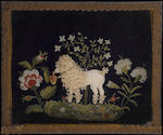 Two English needlework pictures 19th century