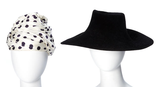 Two Yves St. Laurent hats