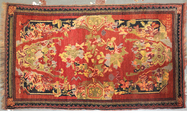 A Karabagh rug size approximately 3ft. 9in. x 6ft. 6in.