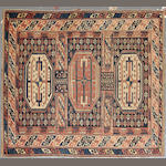 A Shirvan rug size approximately 3ft. 7in. x 4ft.