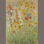 Paul Maze Field Flowers signed pastel on paper 30 x 22in