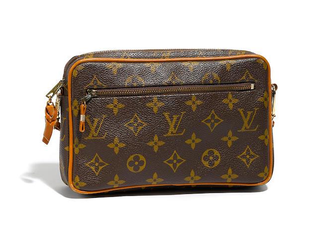 A Louis Vuitton shoulder bag