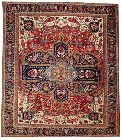 A Serapi carpet Northwest Persia size approximately 13ft. 2in. x 15ft. 8in.