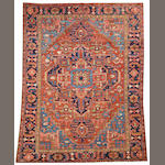A Heriz carpet  Northwest Persia size approximately 8ft. 5in. x 11ft. 2in.
