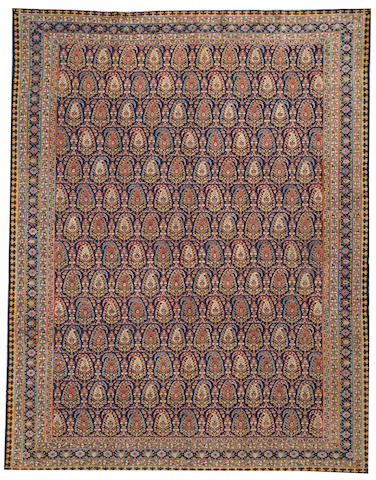A Tabriz carpet Northwest Persia size approximately 8ft. 6in. x 11ft.