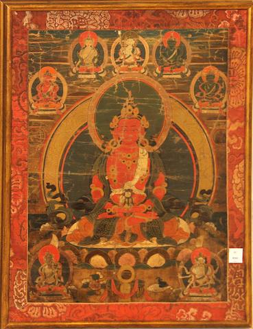 A Tibetan thangka 18th/19th century