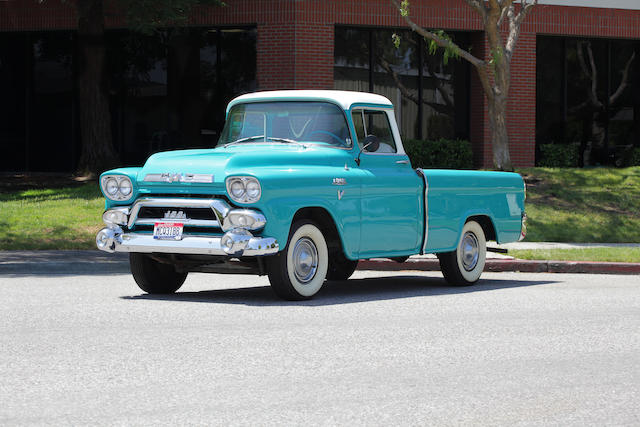 Ex-Steve McQueen,1958 GMC 101-Series Pickup  Chassis no. 1018CS1318A