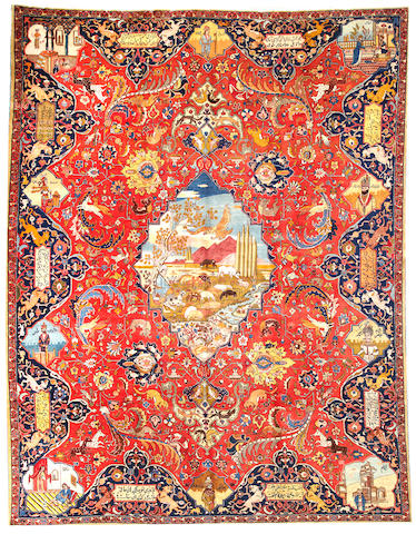 A Tabriz carpet Northwest Persia size approximately 10ft. 2in. x 13ft. 4in