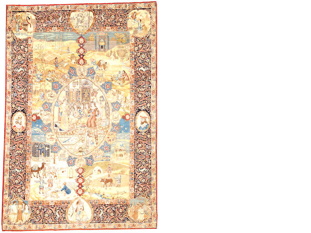 A Tabriz carpet Northwest Persia  size approximately 7ft. 7in. x 11ft. 1in.